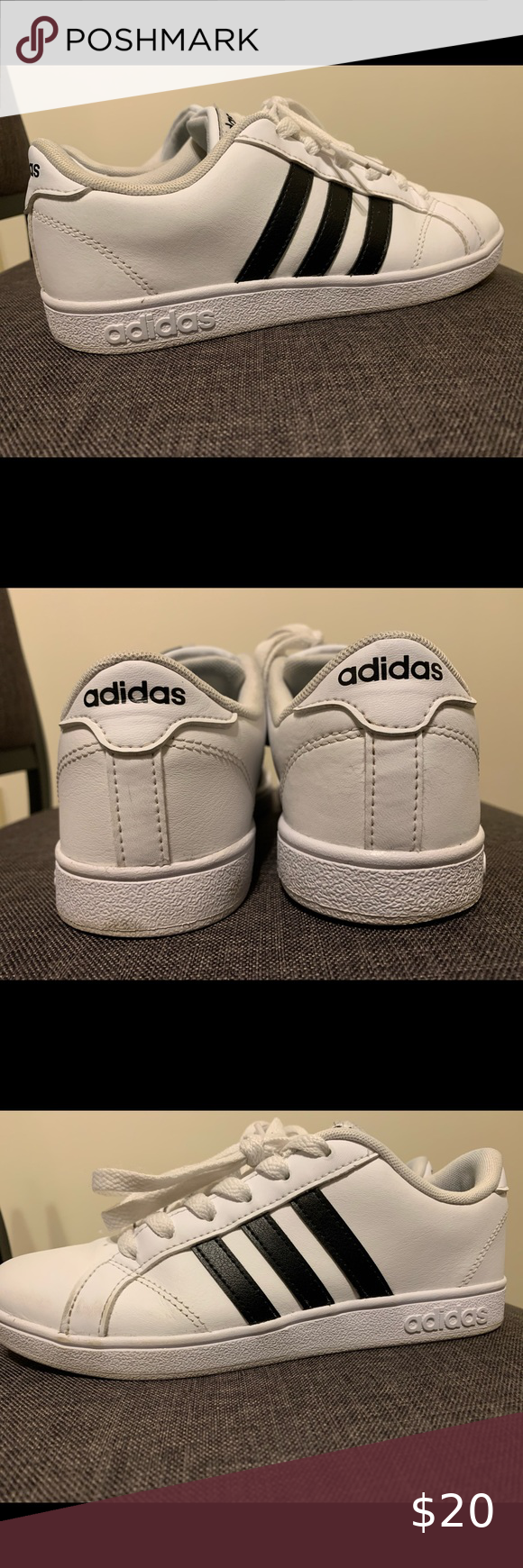 Adidas Neo Baseline Sneakers Youth Size