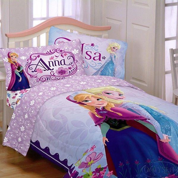 Disney Frozen Anna And Elsa Reversable Twin Comforter