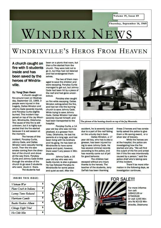 newspaper guide tasks