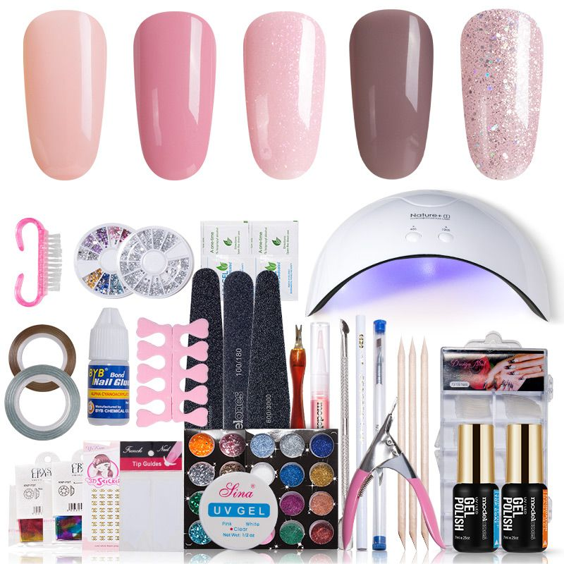 Modelones 11pcslot sunmini uv lamp beigner practice nail art tools modelones 11pcslot sunmini uv lamp beigner practice nail art tools diy nail design uv nail manicure kit any 4 colors gel in set price us 1399 free solutioingenieria Choice Image