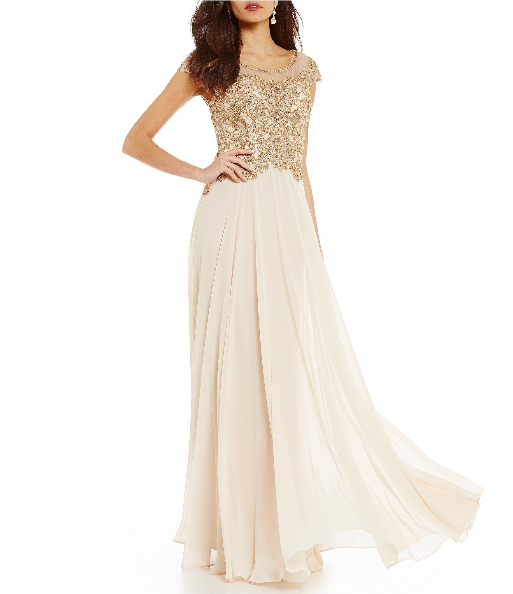 58ee028eadc Shop for MGNY Madeline Gardner New York Beaded Bodice Chiffon Gown at  Dillards.com. Visit Dillards.com to find clothing