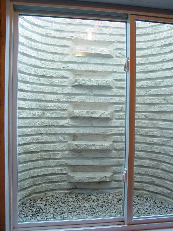 Decorative Window Well With Built In Steps Sick Of Metal Window Wells We Are Too Visit Us Online At Windowwe Window Well Window Well Cover Window Decor