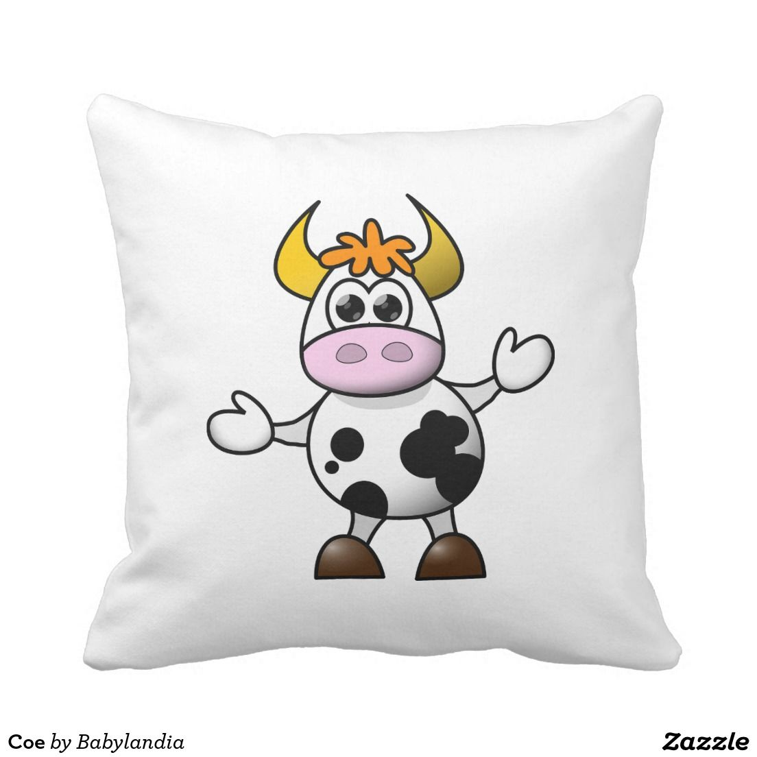 Coe Throw Pillow Cross Paintings Diamond Mosaic Cow