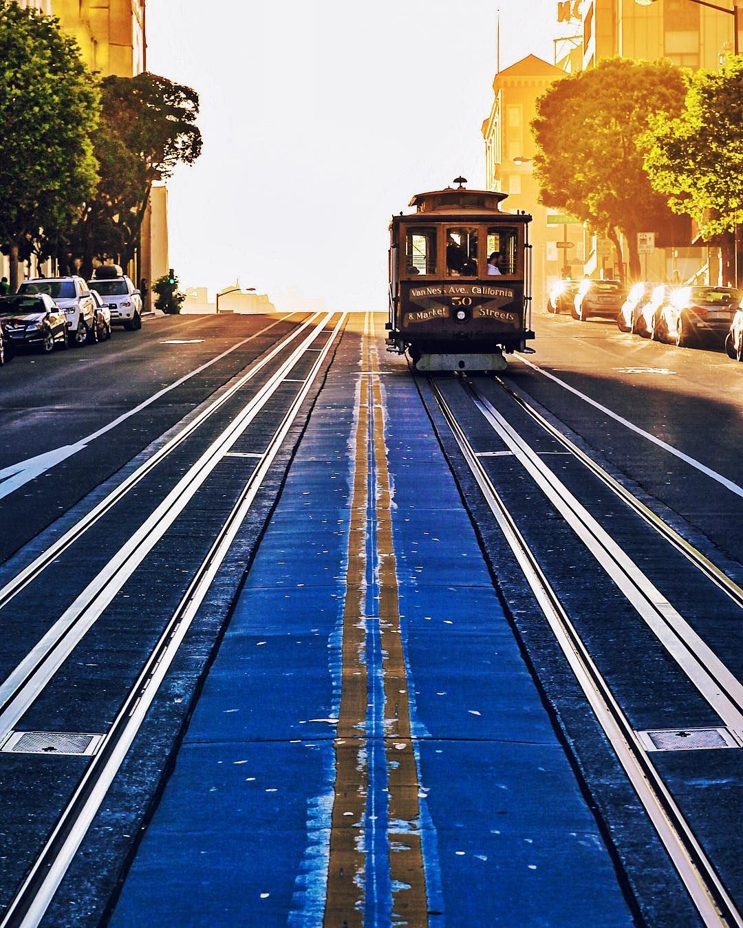 A trolley approaching at golden hour by @garrettroth. Processed with #MuseCam MC09. by musecam.co
