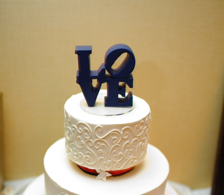 wedding cake topper perfect for philadelphia weddings love statue ...