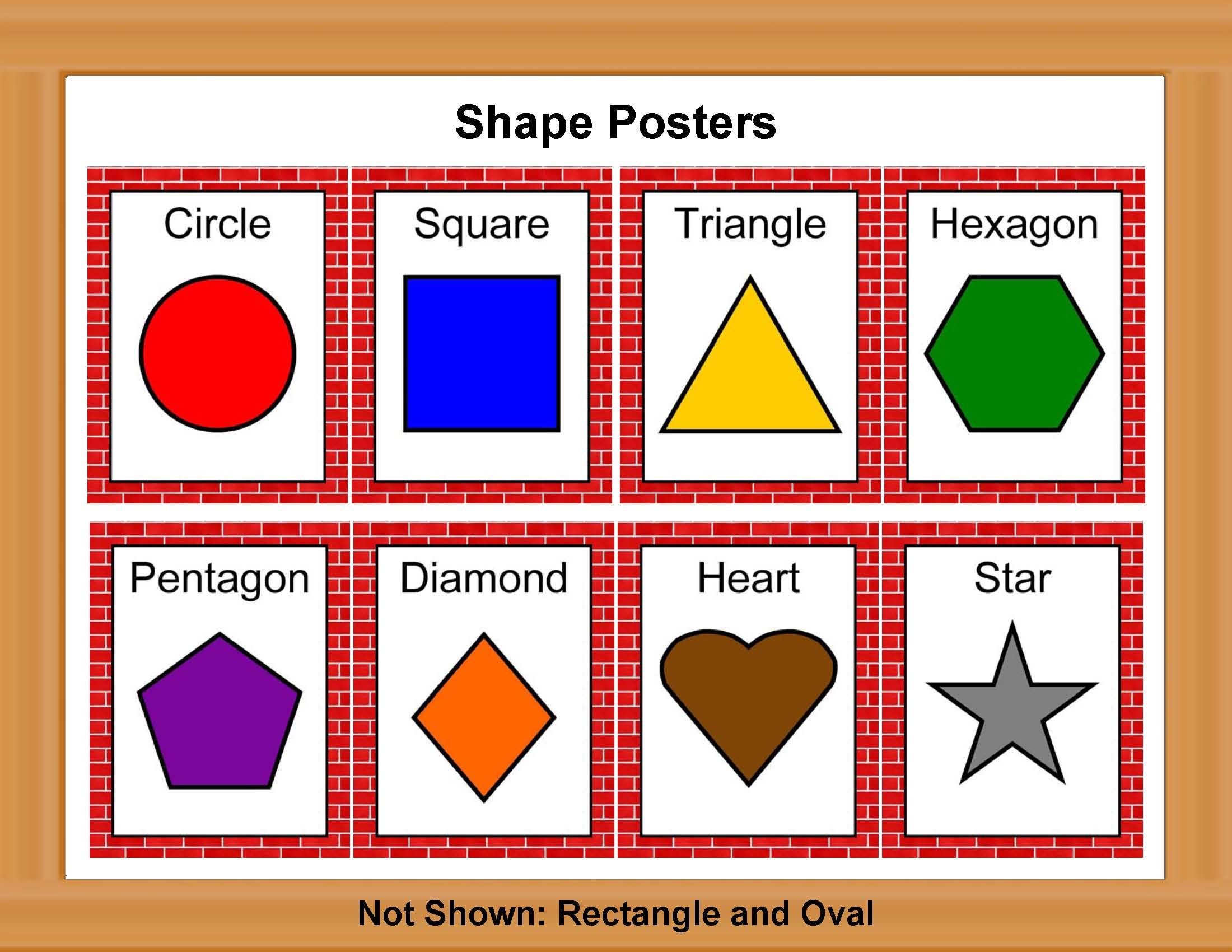 shape posters classroom printables store education pinterest