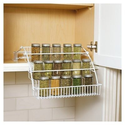 Lowes Spice Rack Simple Rubbermaid White Cabinet Mount Pulldown Spice Rack Lowes $1997 Decorating Design