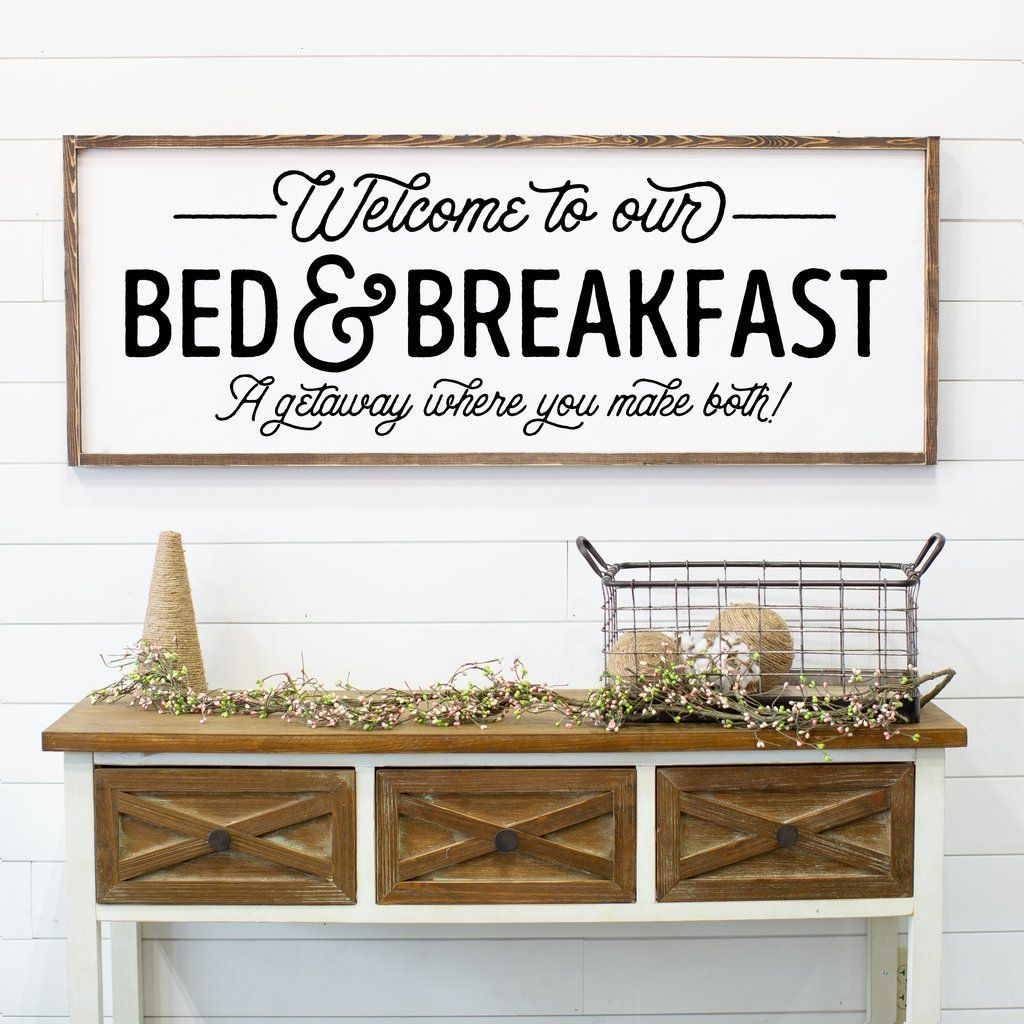 to Our Bed & Breakfast a Getaway Where You Do Both