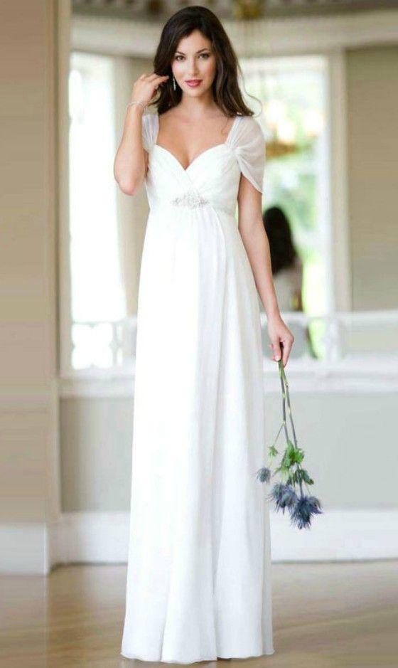 f2bf25b4ca15 Simple Sweetheart Chiffon Wedding Dress for Older Brides Over 40, 50, 60,  70. Elegant Second Wedding Dress Ideas.