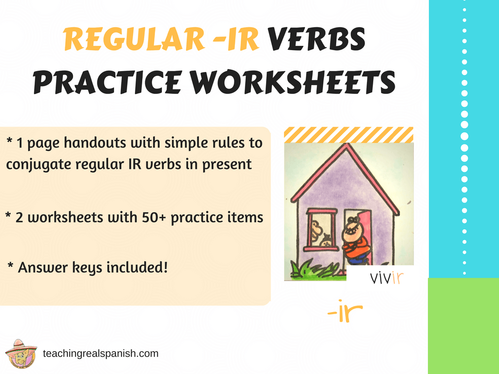 Ir Verb Worksheets Regular Simple Present