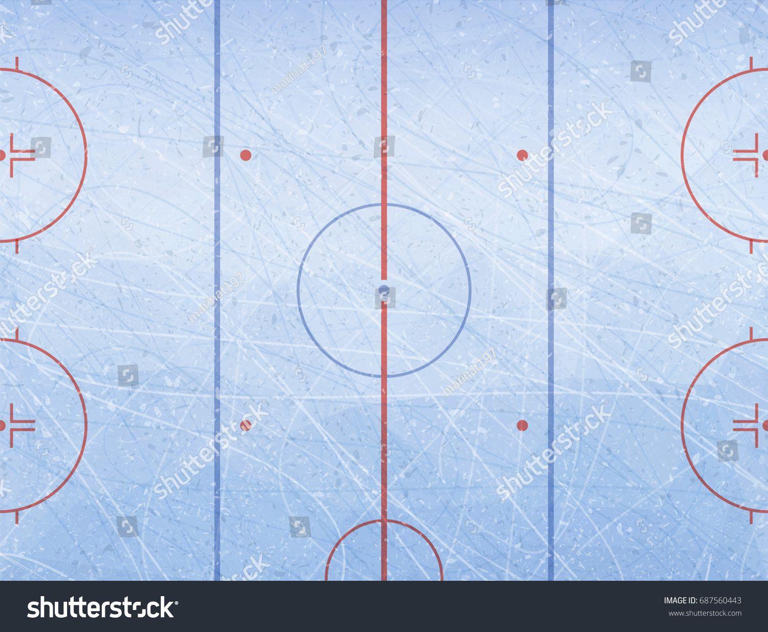 Vector Of Ice Hockey Rink Textures Blue Ice Ice Rink Vector Illustration Backg Marketing Business Card Professional Business Cards Marketing Ice Hockey Rink