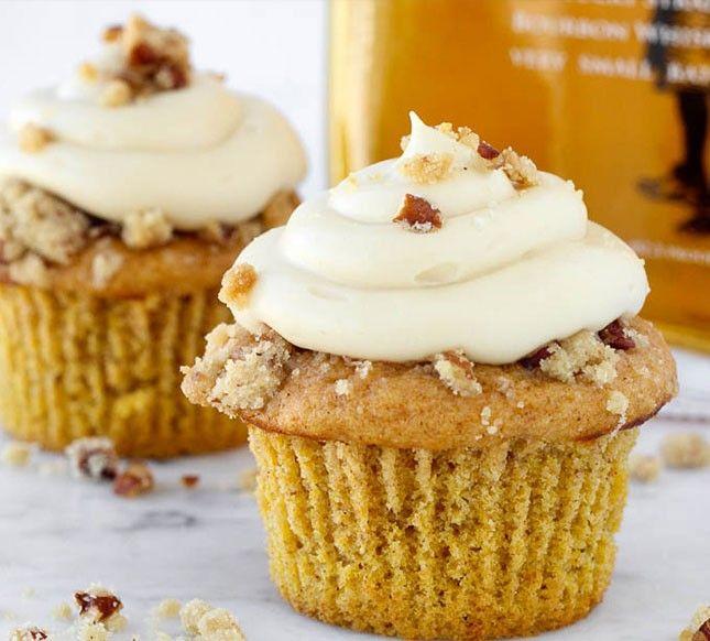 Bake up a dozen Pumpkin Pecan Pie Cupcakes for dessert using this easy recipe.