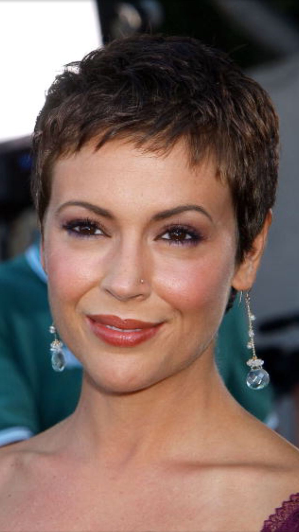 Alyssa Milano Short Hair Styles Pixie Alyssa Milano Hair