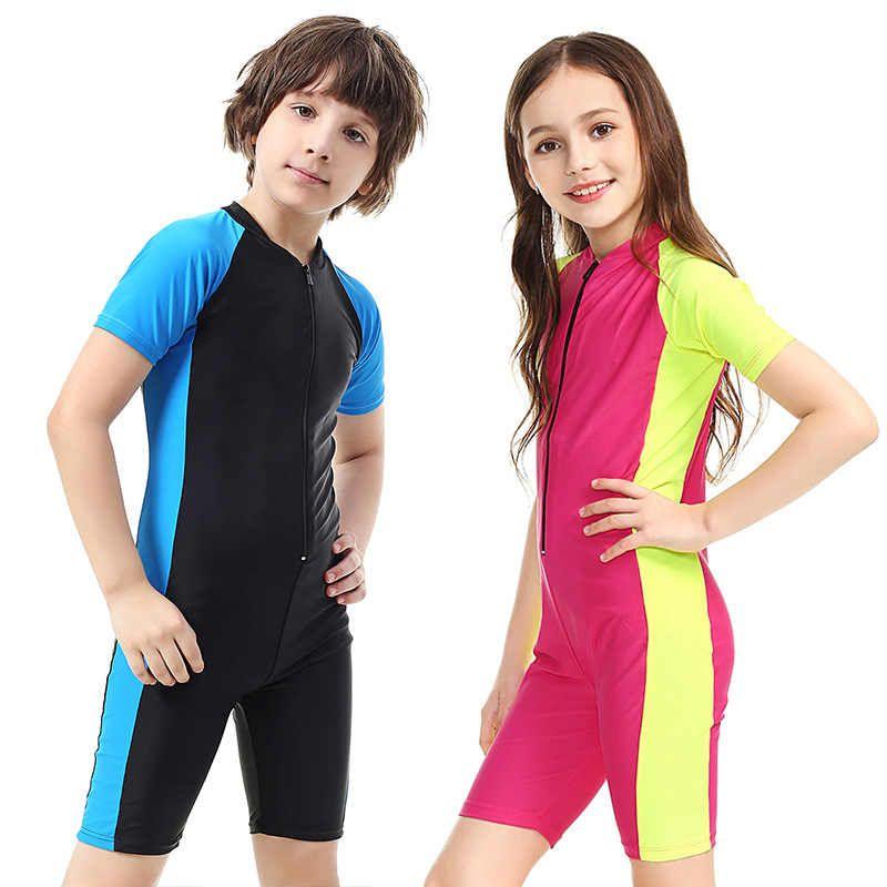 SBART Kids Swimwear One Piece Boys Swimsuit Short Sleeve Children For Girls  Swim Suit Sport UPF50+ Beachwear Baby Bathing Suit H Children One-Piece  Suits  - A…   Boy swimsuits, Baby bathing suit, Kids