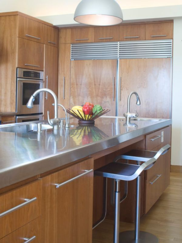 10 Beautiful Stainless Steel Kitchen Island Designs Replacing
