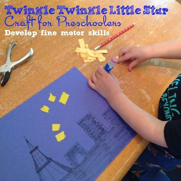 twinkle twinkle little stary night craft for preschoolers