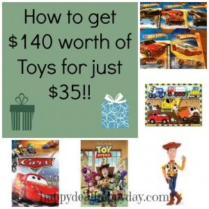 Learn how to get $140 worth of toys for just $35 this Christmas season!  You can do this too!   happydealhappyday.com