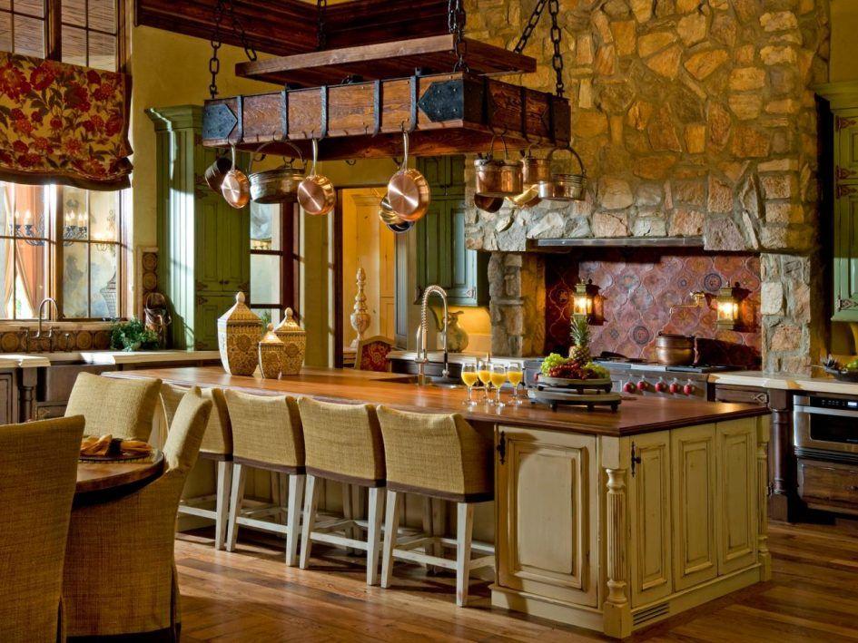 Kitchen Classic Rectangle Dark Brown Oak Wood Hanging Pot Rack