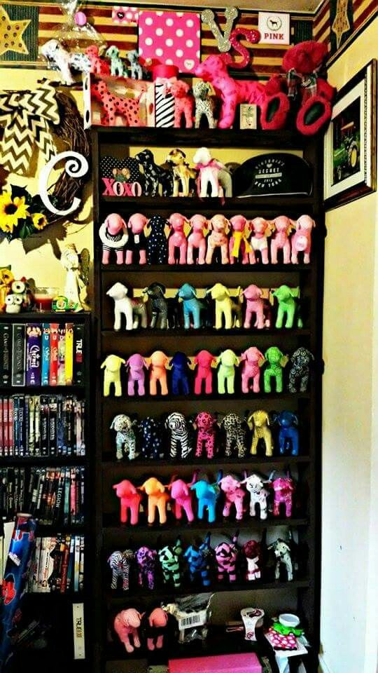Victoria's Secret PINK Dogs My Collection. | Hot pink room