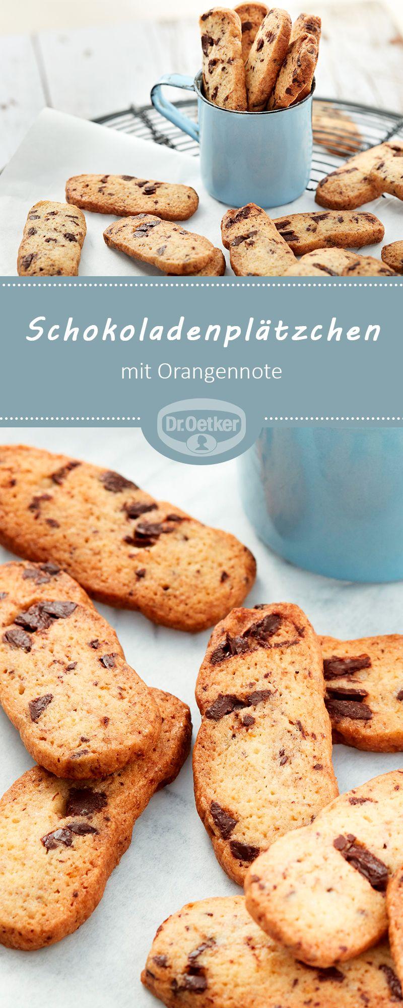 Weihnachtsplätzchen Schokoladenplätzchen.Schokoladenplätzchen Mit Orangennote