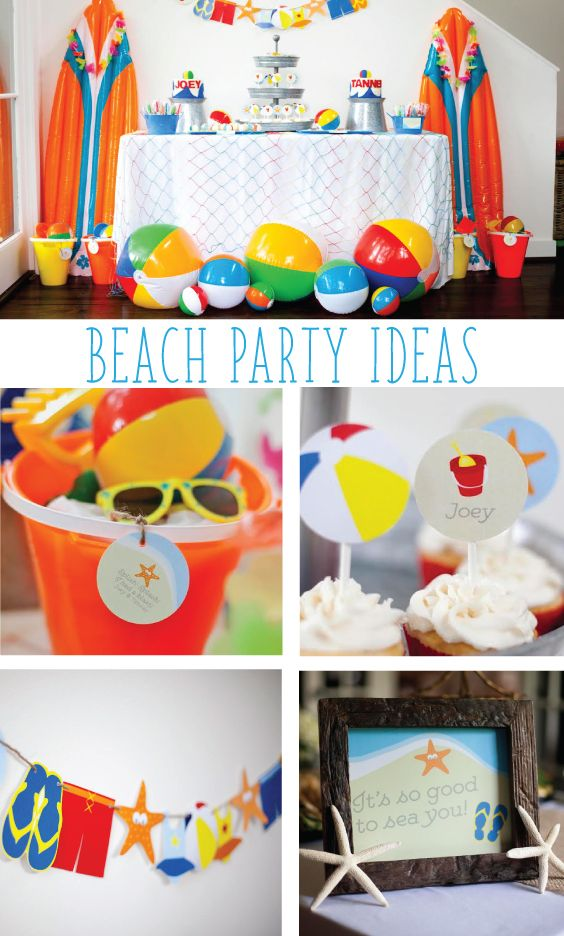 2nd Birthday Beach Bash Beach Birthday Party Beach Theme