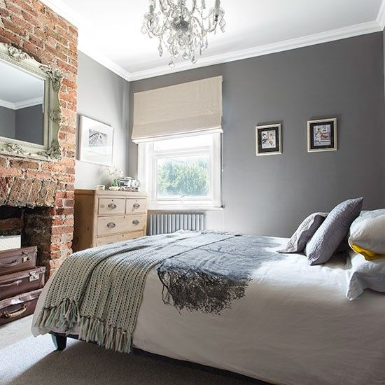 Best Gorgeous Grey Bedrooms Design Ideas I Brick Wall Bedroom 400 x 300