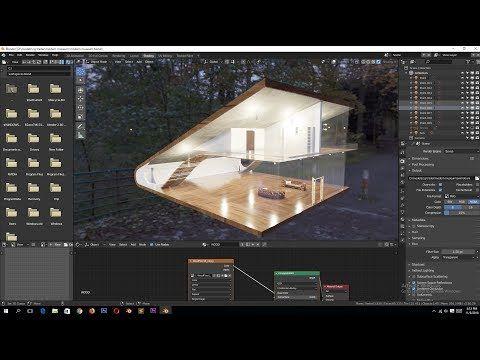 35) architectural visualization in blender 2.8 tutorial