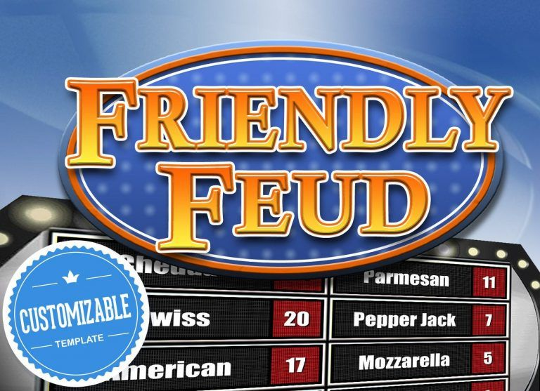 Customizable Friendly Feud Powerpoint Template Family Feud Style Game Show Mac Pc An In 2021 Family Feud Game Family Feud Powerpoint Template Free Family Feud Template Free family feud template