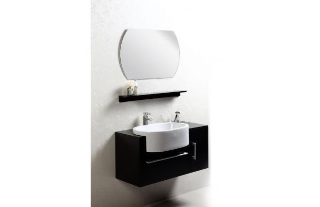 Cet ensemble de meubles de salle de bainSullivan, aux couleurs sobres et à la ligne simple apportera une touche d'élégance à votre salle de bain.