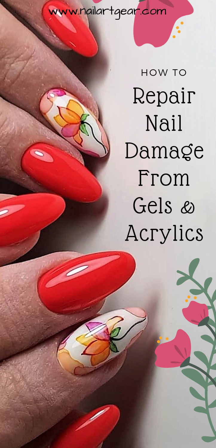 How To Repair Damaged Nail Bed After Acrylics And Gels Nailrepair Powdernails Nail Repair Nail Bed Damage Damaged Nails Repair