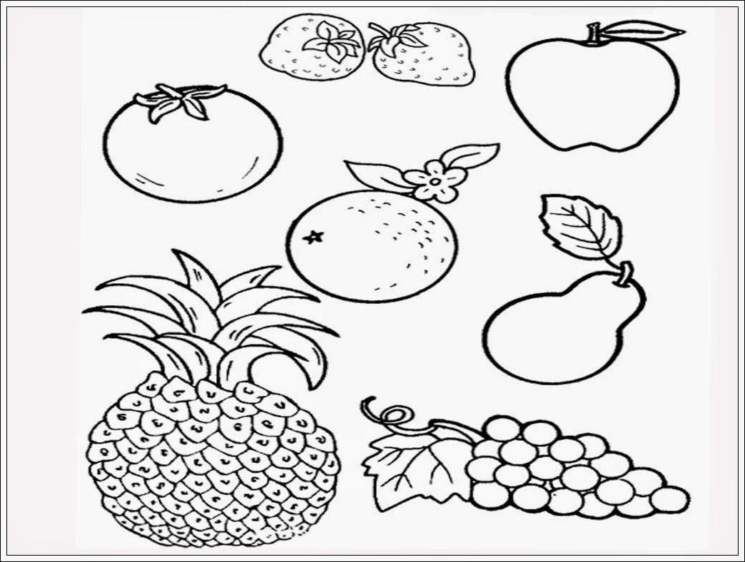 gambar buah buahan segar untuk mewarnai