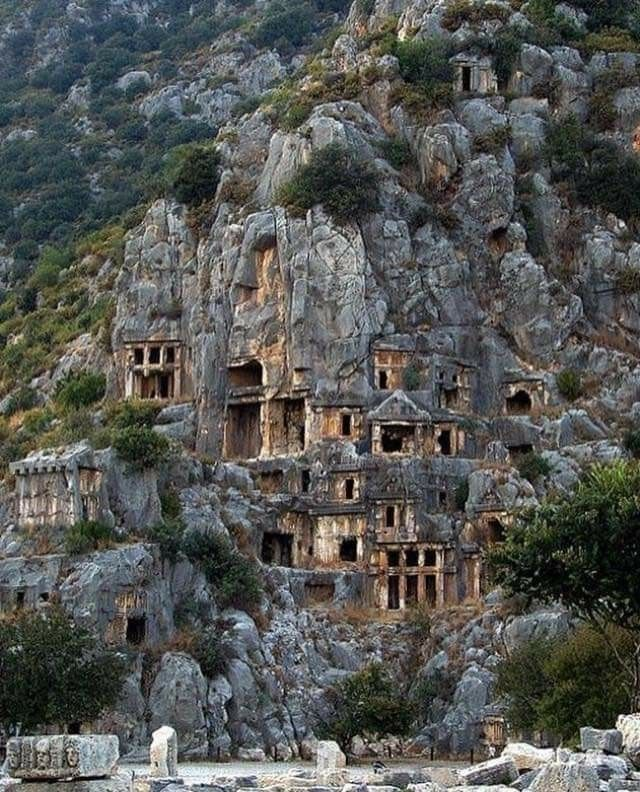 Ancient Tombs In Lycia , Turkey. In 2020