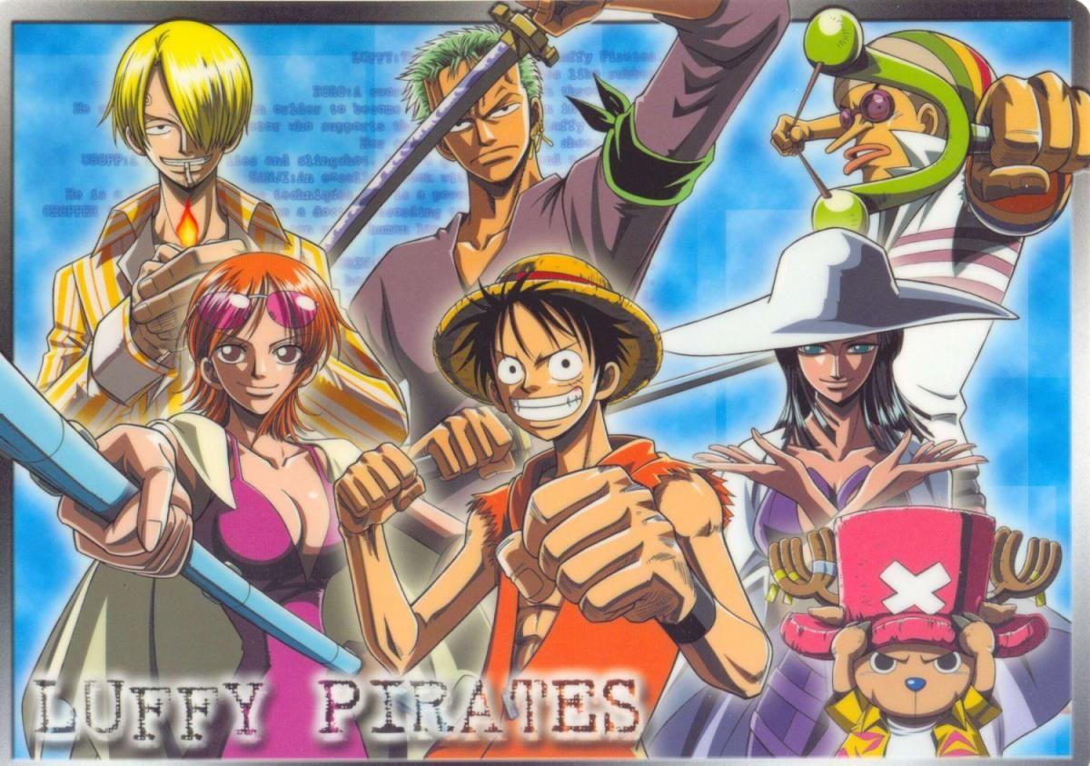 ONE PIECE, Straw Hat/Mugiwara Pirates, Monkey D. Luffy, Nami (One Piece), Nico Robin, Roronoa Zoro, Sanji, Tony Tony Chopper, Usopp