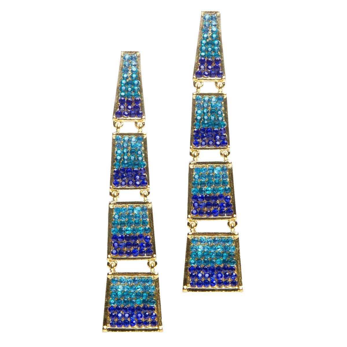 So Sparkly Blue Crystal Earrings Jewelry Inspiration Footwear Design Women
