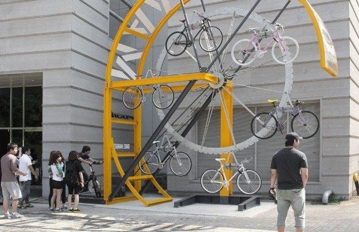 Ausgefallenes Fahrradstander Design Fur Offentliche Raume Mit