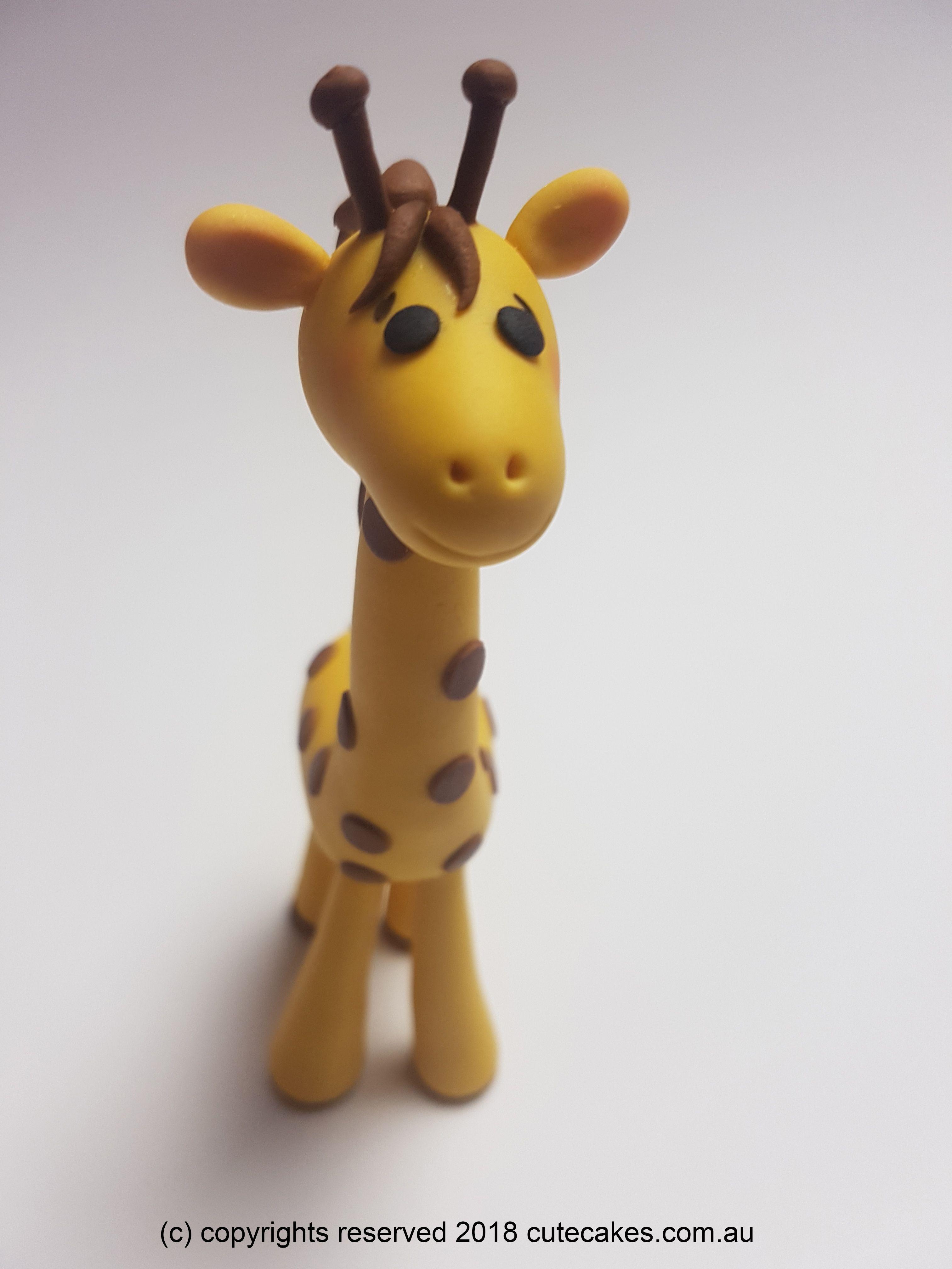 Giraffe cake topper baby shower birthday christening