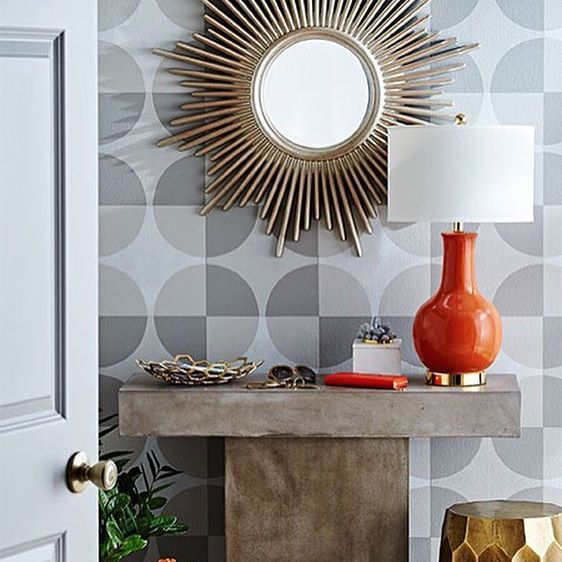 Create An Accent Wall With Just Paint And Stencils Its Easier Than