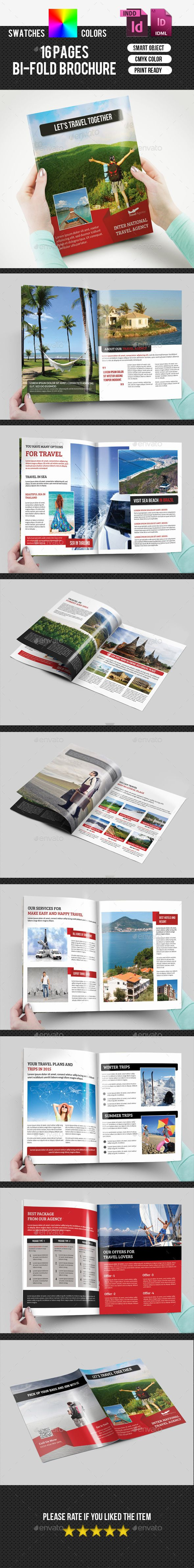 Travel Agency Bifold Brochure-V166