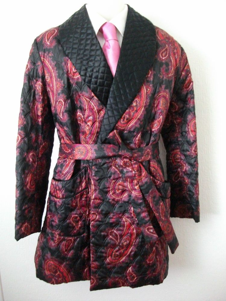 Men S Vintage Quilted Tootal Dressing Gown Robe Size Large Gowns Dresses Dressing Gown Robe Clothes