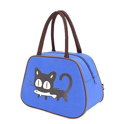 2016 Cartoon Oxford Lunch Bag Cute Cat Printed Handbag Women Fashion Lunchbox for Office/School/Home/Picnic Lancheira Summer
