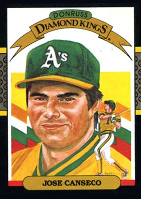 Jose Canseco For Donruss Diamond Kings Baseball Card Series
