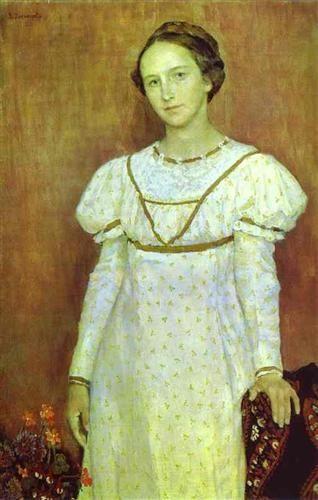 Portrait of Olga Poletayeva - Viktor Vasnetsov