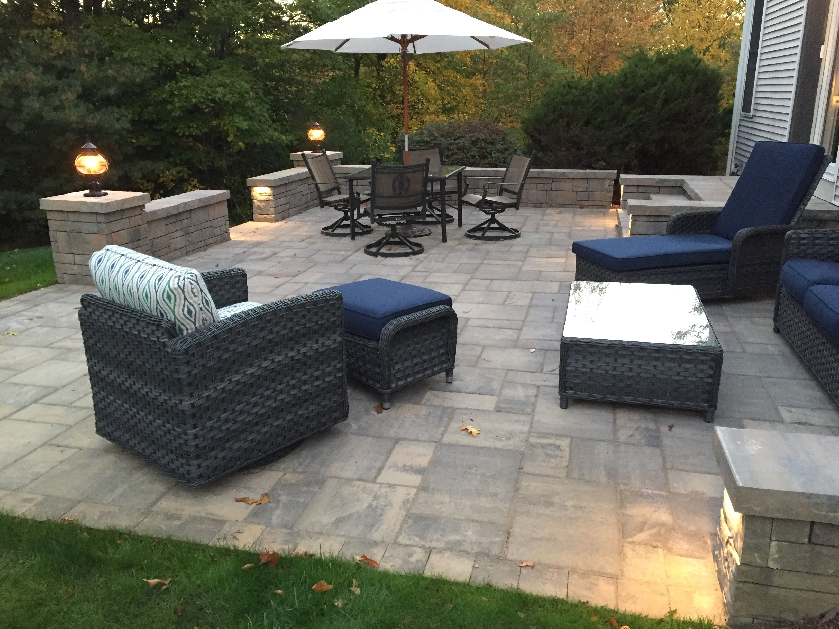 Laffit pavers and Tandem wall by Belgard Much cleaner look than