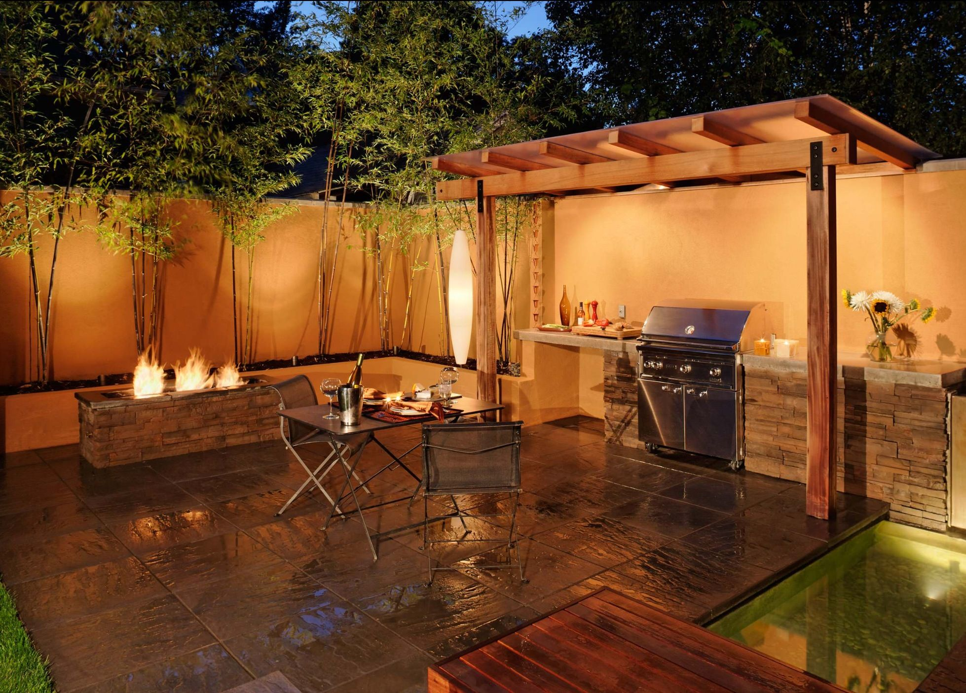 earth wood fire water metal this simple minimal esque space