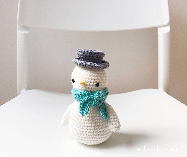 SNOWMAN crochet amigurumi with scarf, crochet snowman toy, snowman ...