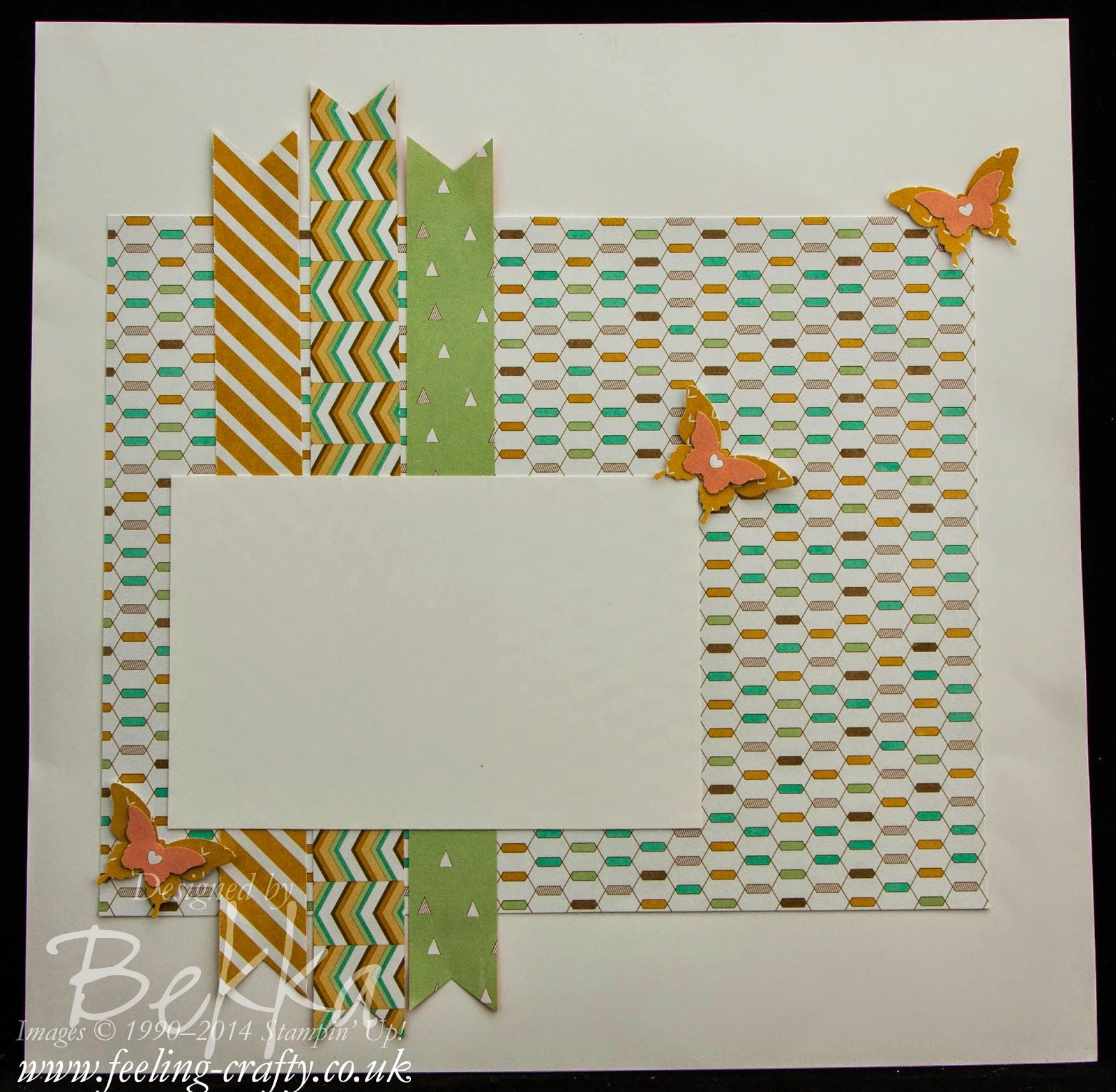 How to scrapbook uk - Scrapbook Start Point Page Featuring The Lullaby Papers From Stampin Up Uk For The