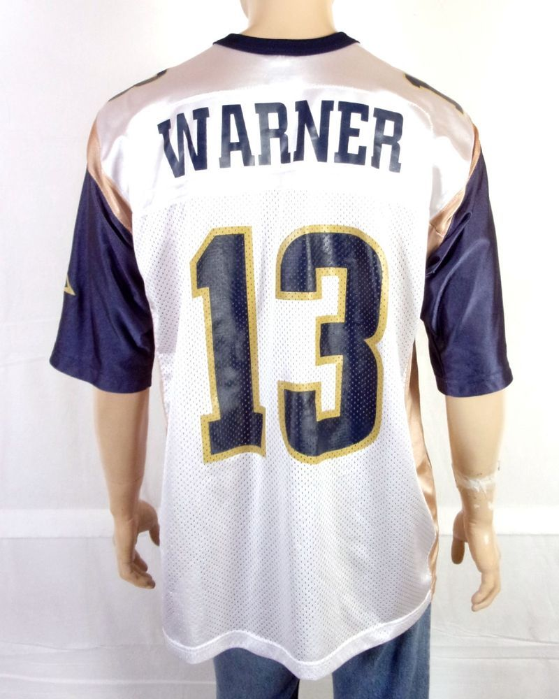 san francisco 613fc 9cea6 vtg 90s Nike Los Angeles LA St. Louis Rams Kurt Warner NFL ...