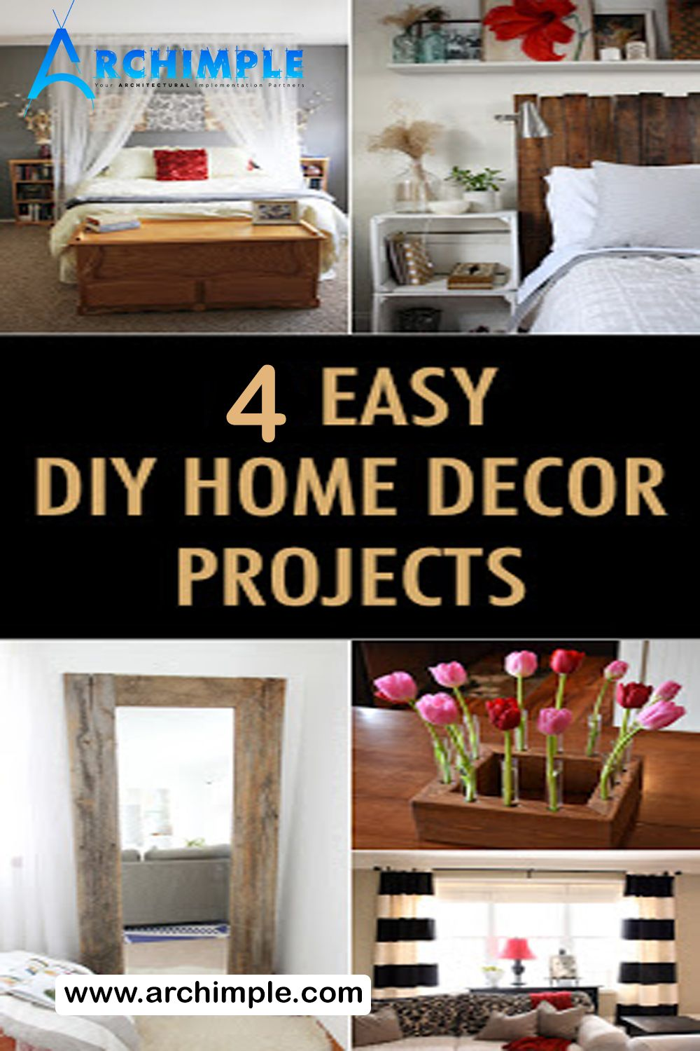 Four Easy Diy Home Decor Projects Diy Home Decor Projects Inexpensive Home Decor Home Diy