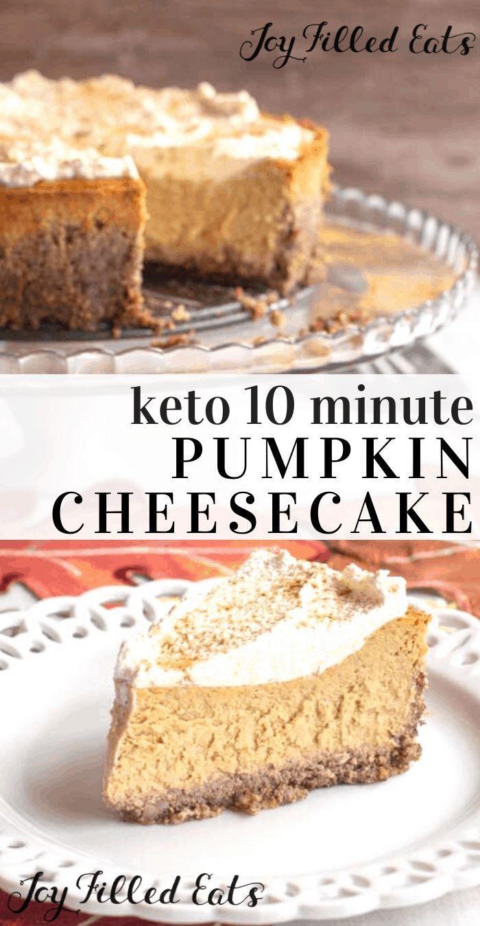 Keto 10 Minute Pumpkin Cheesecake #pumpkincheesecake