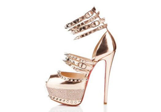 c0654819f5d7 christian louboutin capsule anniversary collection pink studs ...